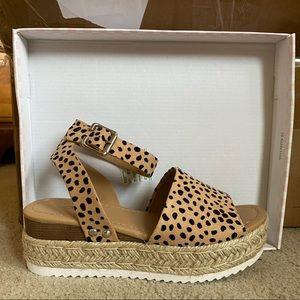 Leopard Print Espadrille Sandals